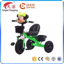 Hot selling kids ride on car child tricycle with push handle