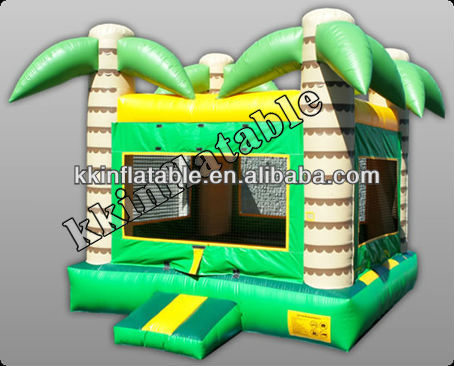 Inflatable rainforest bouncer house jungle theme bouncer