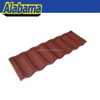 Easy to install metal stone chip coated metal roof tile sheet, stone metal roof tiles, roof tile factory
