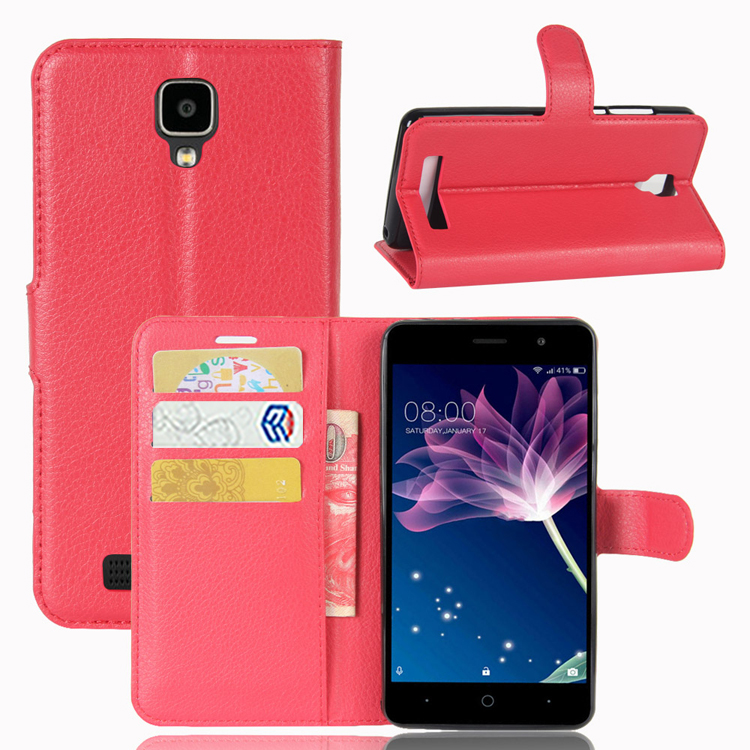 Premium PU Flip Wallet Leather Back Case Cover For Doogee <strong>X10</strong>
