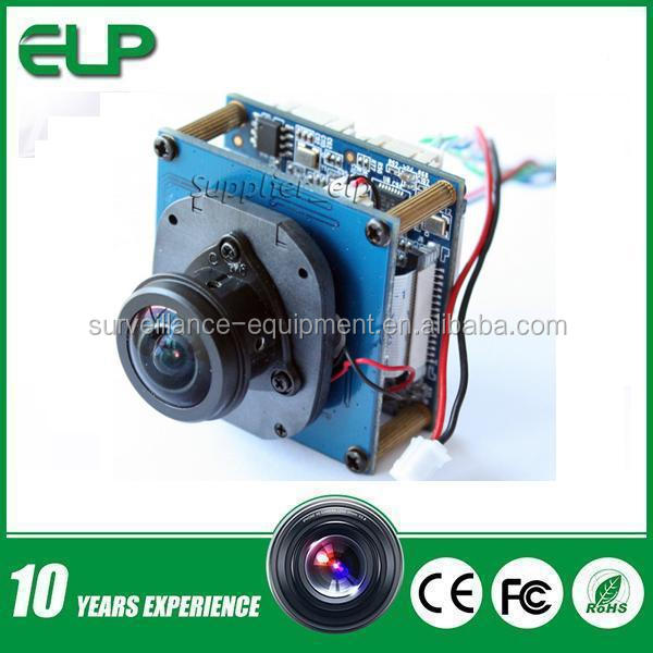 2015 New products H.264 oem 5mp 360degree Panoramic full view wide angle network ip camera module with fisheye lens ELP-IP500W