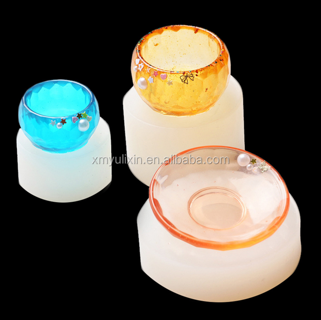 Silicone bowl and plate designed resin mold