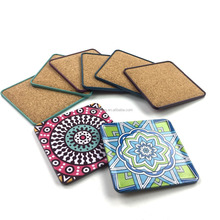 Square shape different design tin coaster