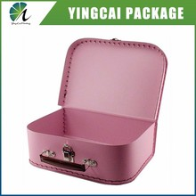 China supplier manufacturing Mini cardboard shoe use package suitcase gift box with handle