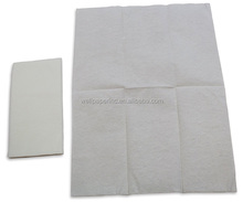 Cloth like Guest Towels 12x17 inches 1/6 fold white disposable Airlaid dinner paper Napkins 100count