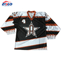 Newest design sustom 100% polyester sublimation new jersey hockey jersey