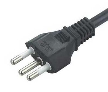 Brazil 3 pin plug & power cord;3 round pin power cord