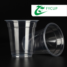 Feiyang 12oz disposable plastic pp cup with lid for hot and cold drink,pp cup with lid