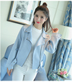 Korean style short slim fit college girls coats jackets