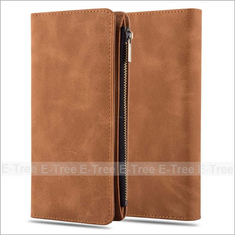 Wholesale Commonly Used Buckle Wallet Card Slot Pu Leather Phone Case Bag Cover For 4.5 inch Mobile Phone