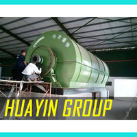 Waste Tyre Refining Plant Pyrolysis to Oil with CE Huayin Patent