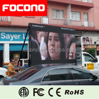 Double Sided Led Tv Screen Led Screen Car Advertising Mobile Trailer LED Sign