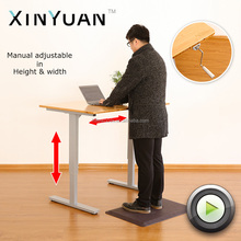 China low price adjustable height crank up manual lift office desk