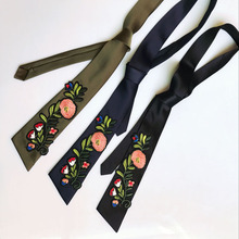 Embroidery Roses Patch Lengthened Women Work Scarf