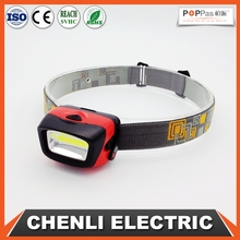 Poppas T11 AAA operated 3W COB headlamp outdoor waterproof running camping walking reading led headlamp