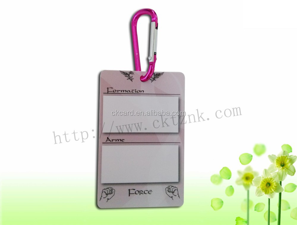 custom name embroidered luggage tag credit card size