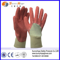 knit wrist colored latex gardening gloves