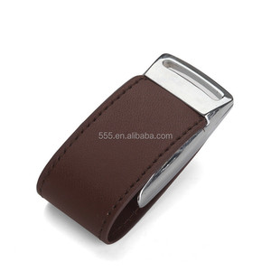 Cheap promotional 16gb black leather usb flash drive