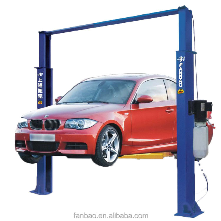 hydraulic two post double cylinder gantry lift car hoist auto lifter vehicle elevator CE approved Shanghai Fanbao