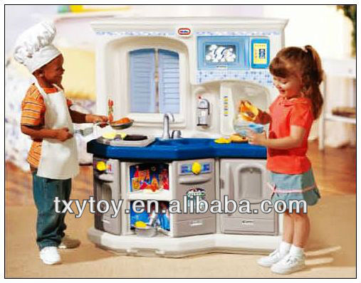 Children furniture, kids plastic play kitchen toys LT-2155N
