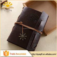 Vintage String Bound Leather Notebook Mini PU Diary 2017
