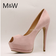 Peep toe high heel sandals women shoes platform tan nude color shoes