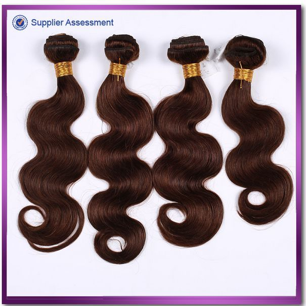 2015 New style fashion long lasting color #2 Peruvian hair