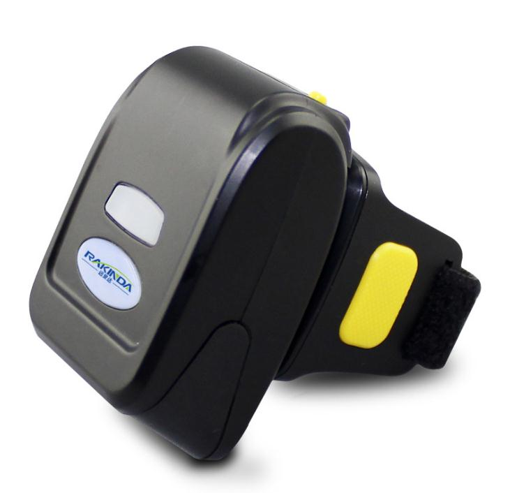 Rakinda Finger Wearable Ring 1D Small Barcode Scanner / Bluetooth 1D Barcode Scan Gun For Commercial POS System,logistic