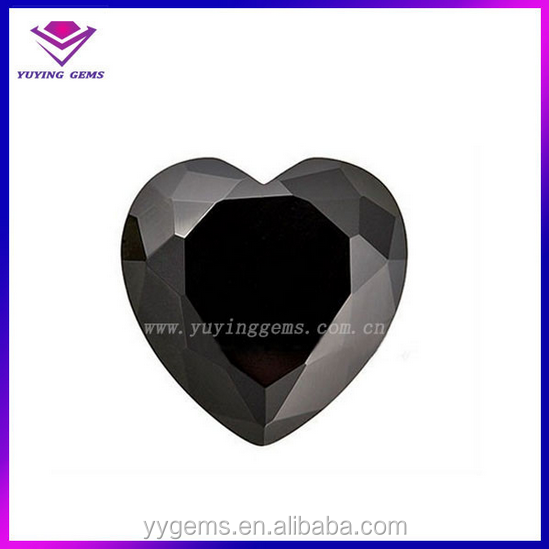 black lab grown diamond heart shape moissanite ring