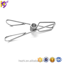 OEM custom stainless steel torsion spring clip/U shaped clothes pin spring