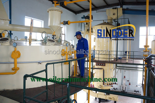 soybean oil solvent extraction process system high quality edible oil making production line of Sinodser oil machinery