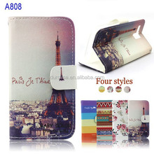Welity Beautiful Eiffel Tower Retro Vintage Luxury PU Flip Leather With Card Slots And Stand Case Cover For lenovo A806 A808 A8