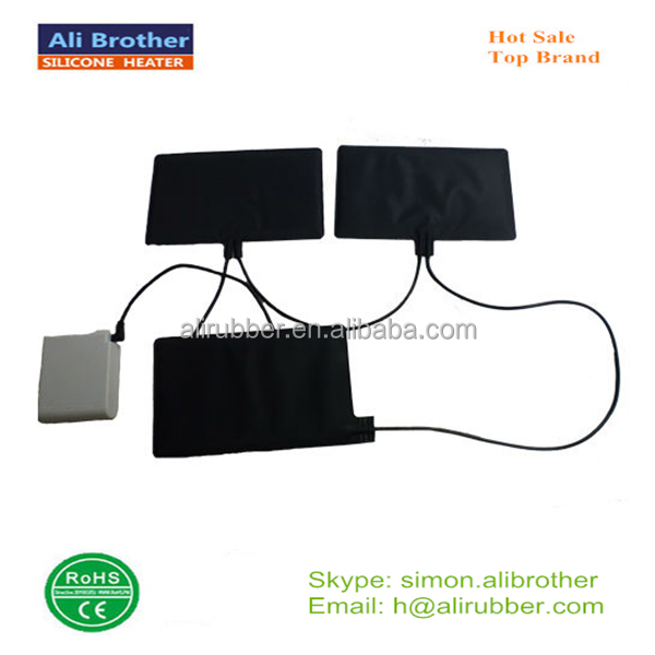 7.4v rechargeable battery heating pad for vest clothes