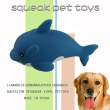 2014 vinyl shark dog toy
