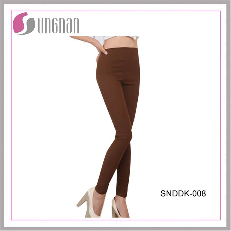 High waist solid color cotton legging pants hot sell
