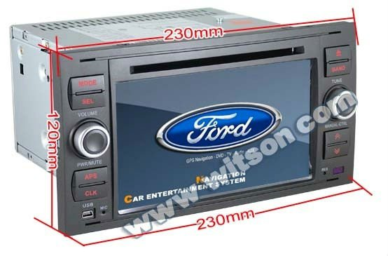 WITSON ford galaxy car radio with Dual Zone Function