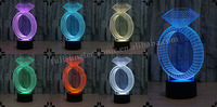 FS-2816 3D illusion ring shape led cable micro usb night light