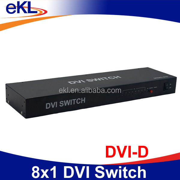 Digital video switcher DVI 8 way 8 input 1 output DVI switch matrix box x8