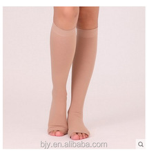 Varices sleeping Miracle Compression Socks Breathable medical open toe socks stocking