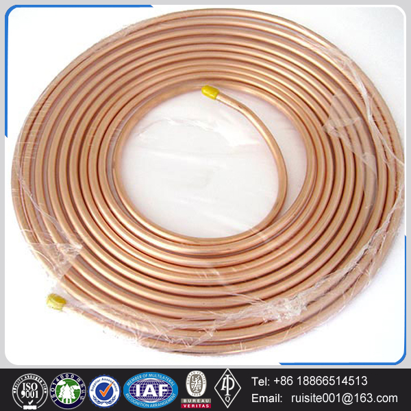 air conditional ANSI B16 quarter inch solid copper tube for soft drawn