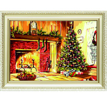Merry Christmas tree celebration handmade artistic wholesale diy oil painting art on canvas by numbers for home & garden a143