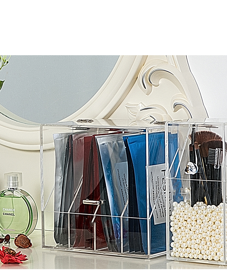 New Style Concise Clear Acrylic Display Facial Mask Storage Box
