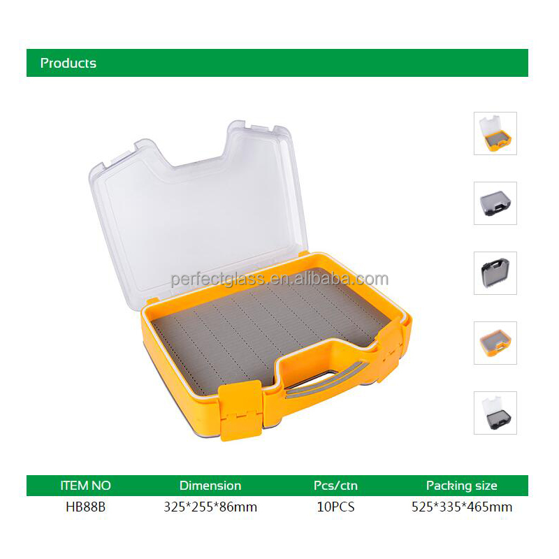 Waterproof Plastic Fly Fishing Tackle Boxes