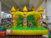 commercial used large inflatable castle with slide/ slip