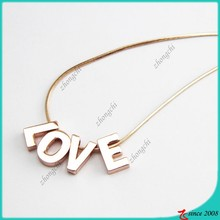 cheap personalized slide love aphabet letter initial necklace