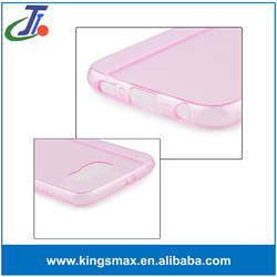 Cell phone accessory 100% Clear Transparent Soft Silicon 0.3mm TPU Case for S6 Cases Cover Shell
