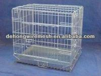 Wire mesh folding dog cage