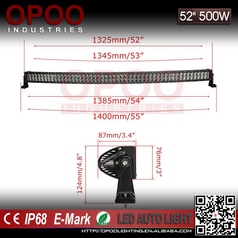 New Superbright 5W double row 52 inch led light bar offroad light bar