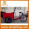 Multifunctional three wheel battery cargo bike trailer