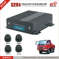 H 264 remote control 4 channel real-time usb 24 hour video recorders bus dvr vehicle mdvr , S204-3G